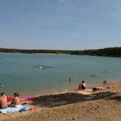 Písečná pláž pohled z obce...