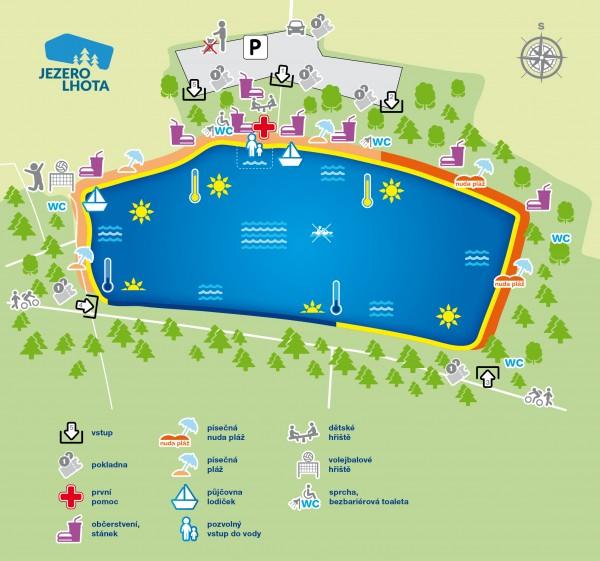 Orientační mapa jezera